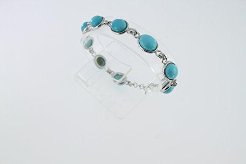 Bracelet en Turquoise B 94-02 - Bijoux en argent rhodié et Turquoise - Diverses pierres possible - ARTIPOL