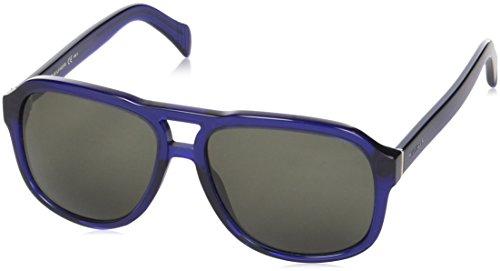 Tommy Hilfiger Plastic Aviator Sunglasses 58 0GEG Transparent Blue Transparent Blu 70 brown - Sunglasses Hilfiger Aviator Mens Tommy