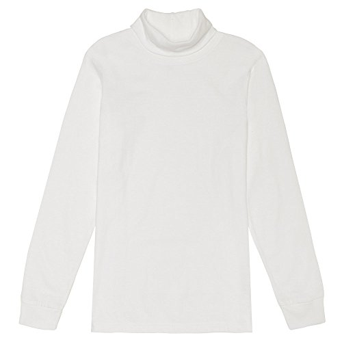 French Toast Boys' Big Turtleneck, White, L (10/12) (Neck Kids Turtles)