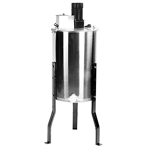 VIVO Large Electric 3 Frame Stainless Steel Honey Extractor with Strainer | Honeycomb Drum Spinner (BEE-V003E)