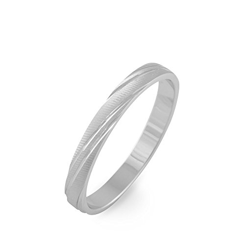 HISTOIRE D'OR - Alliance Or Blanc 3mm - Femme - Or blanc 375/1000