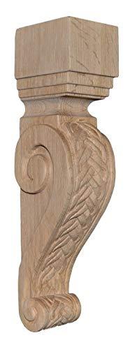 BingLTD - 13 Inch Oak Braid Corbel - 1 Piece (CBD13AK-UNF)
