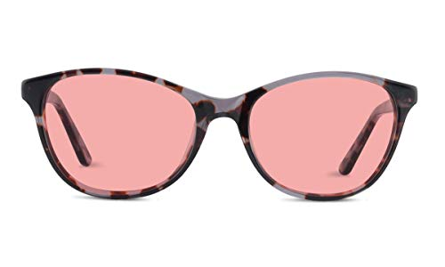 TheraSpecs Audrey Migraine Glasses for Light Sensitivity, Photophobia and Fluorescent Lights | Women | Indoor Lenses | Brown