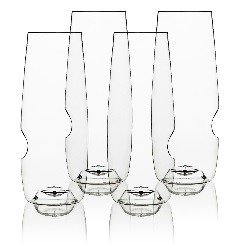 Govino 8 Ounce Dishwasher Safe Resort Series Flute Champagne Glasses, Set of 48