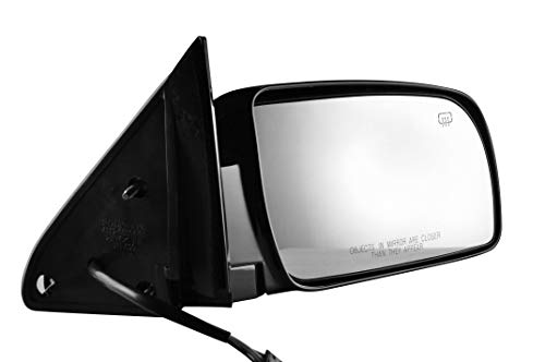 (Passenger Side Painted Black Heated Side View Mirror for 88-00 C/K 1500 Chevy GMC Truck Suburban - Check Fitment In Description - Parts Link #:)