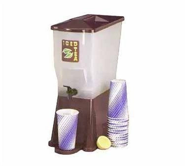 Tablecraft 3 Gallon Brown Slimline Beverage Dispenser | Cold Drink Dispenser for Catering, Buffet or Home Use by Tablecraft