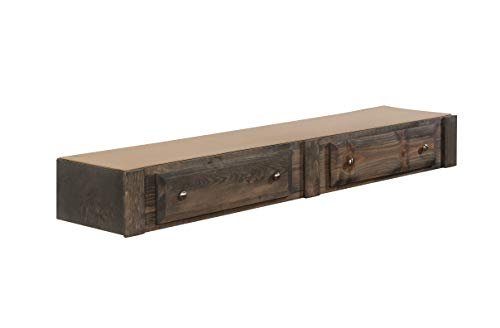 (Coaster Home Furnishings 400832 CO-400832 Wrangle Hill Collection Under Bed Storage, Gun Smoke)