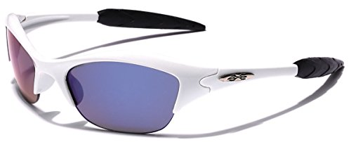 KIDS AGE 3-12 Half Frame Sports Sunglasses - Multiple Frame & Lens - Youth Baseball Sunglasses