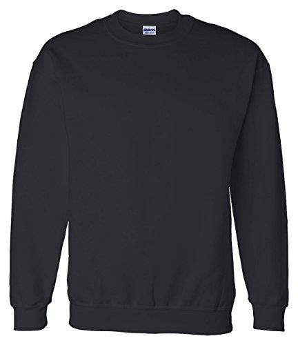Gildan Mens DryBlend Crewneck Sweatshirt, XL, Black