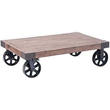 This Item Industrial Wood Coffee Table With Casters Part 96