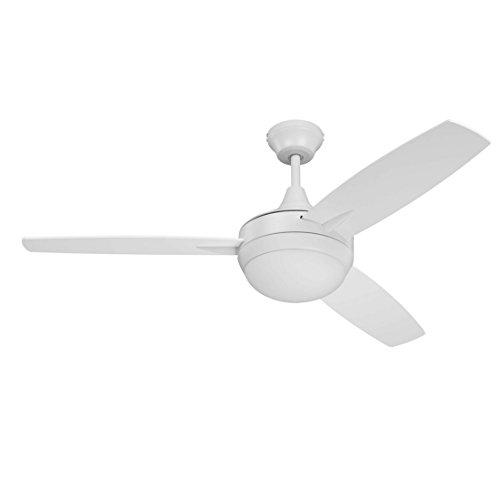 "Craftmade TG48W3 Targas 48"" White Ceiling Fan with LED Light"