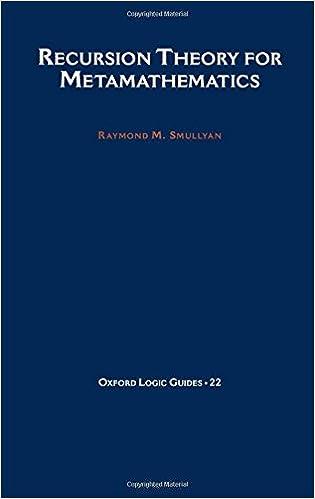 Recursion Theory for Metamathematics (Oxford Logic Guides)