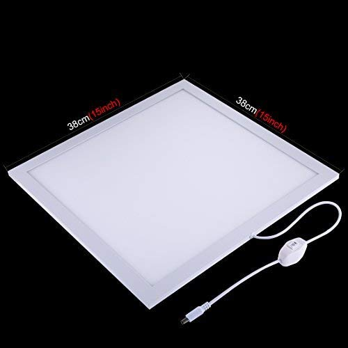 PULUZ Photo Studio Fill Light LED Shadowless Light Panel 15in X 15in / 38 x 38 cm Dimmable Photography Softbox Bottom Light for Food Jewelry Cosmetic Crafts US Plug by PULUZ (Image #1)