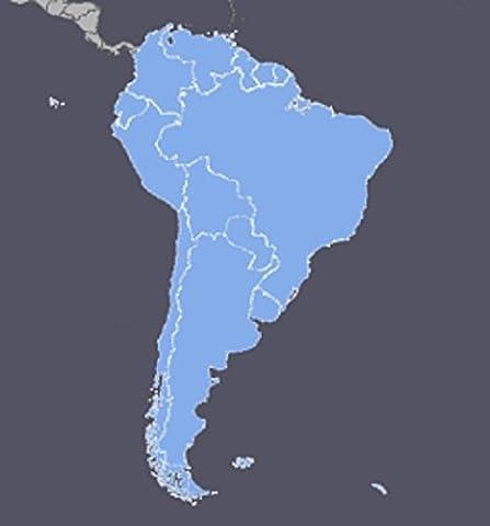 South America GPS Map 2017.3 for Garmin Devices - Garmin City Navigator Brazil
