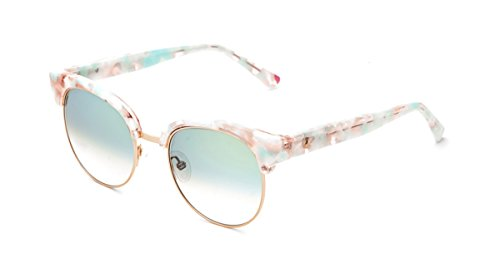 Etnia Barcelona MARINA PKTQ (Marble Beige - Marble Rosa with Green Gradient with Mirror effect - Barcelona Sunglasses
