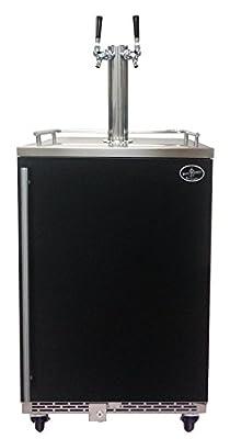 Beer Meister dual tower with black door kegerator- Premium Series