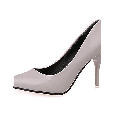 Ggx femme Chaussures en similicuir Printemps été automne hiver talons Bout 80eb922f737b