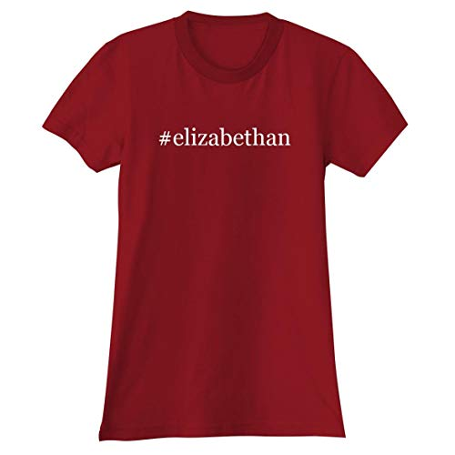 #Elizabethan - A Soft & Comfortable Hashtag Women's Junior Cut T-Shirt, Red, Large -