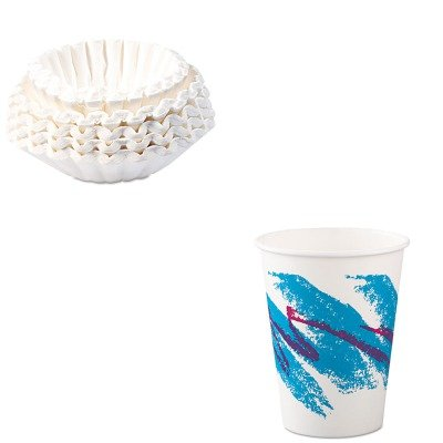 KITBUN1M5002SLO412JZJ - Value Kit - Solo Jazz Paper Hot Cups (SLO412JZJ) and Bunn Coffee Commercial Coffee Filters (BUN1M5002) by Solo