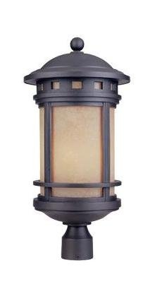 One Light Oil Rubbed Bronze Post Light by Designers Fountain