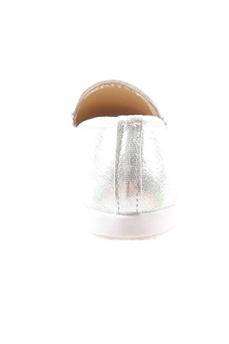 nbsp;Silver Flat Slip Pom Pom Fashion Casual Shoes On Womens Hadari 8CWXqOwX