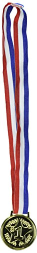 Amscan Soccer Goal Birthday Party Award Medal Favour Supplies , Multicolor, 12 Pieces by Amscan