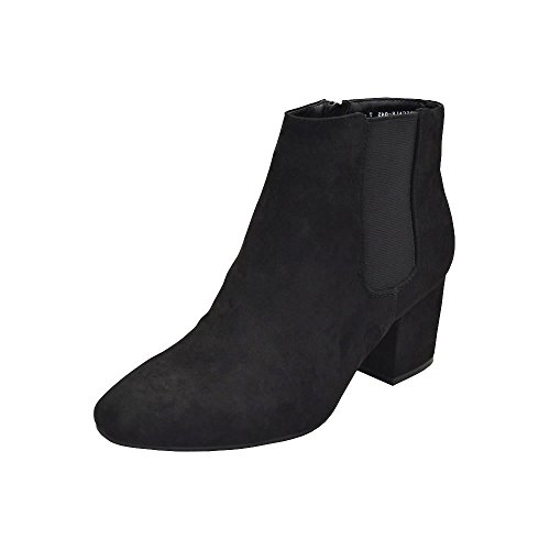 Bamboo Upscale-04S Womens Stacked Heel Bootie Black Fs joZclaGhjq