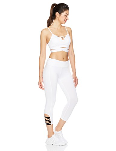 Mint Lilac Women's Crisscross Strappy Workout Capris