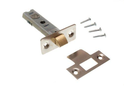 TUBULAR MORTICE LATCH DOOR LOCK CATCH 75MM CP WITH SCREWS ( pack of 200 )