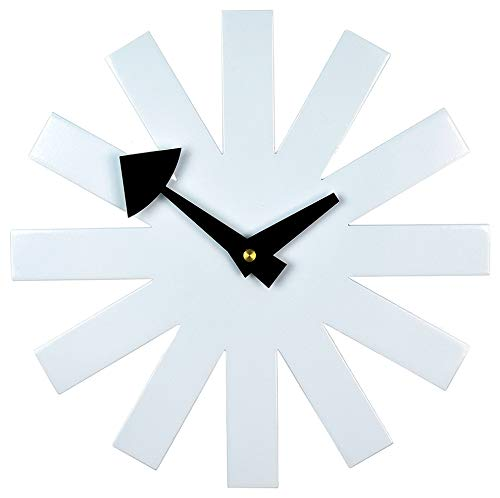 Kardiel Mid-Century Modern Asterisk Clock, White