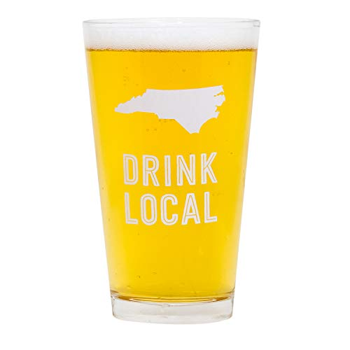 About Face Designs About North Carolina Beer Pint Glass, 16 oz Multicolor