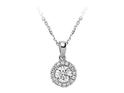 Pendentif Diamant Solitaire-Femme- or Blanc 223P0001