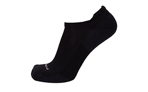 Point6 37.5, Extra Light Micro sock - X Large, Black with a Helicase sock ring