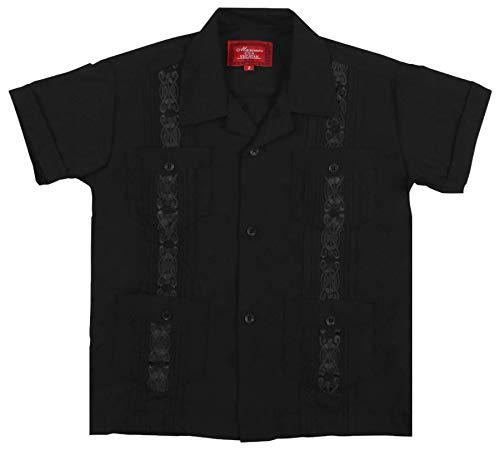 9 Crowns Essentials Boys' Guayabera Button Down Shirt