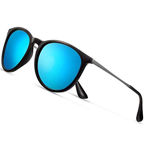 Sunglasses for Women Polarized uv Protection Wearpro Fashion glasses Vintage Round Classic Retro Aviator Mirrored Sun glasses - Mens Sunglasses Racing