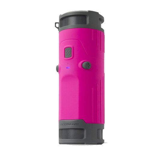 SCOSCHE BTBTLP boomBOTTLE Weatherproof Wireless Portable Speaker - Retail Packaging - Pink/Black by Scosche