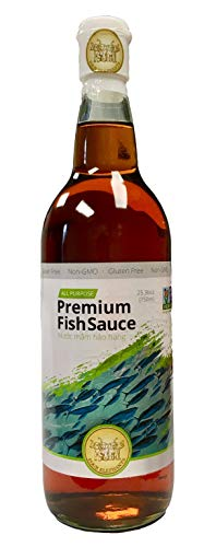Asian Organic Sauce - Four Elephants Premium Fish Sauce 25 Ounce Certified Non-GMO and Gluten Free (1 Pack)