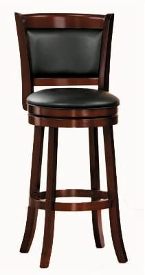 Amazon Com Homelegance Shapel Swivel Pub Height Barstool 30 Sh Cherry Solid Back Furniture Decor