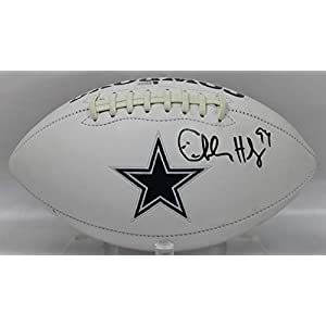 Charles Haley Autographed Dallas Cowboys White Panel Football w/Beckett COA