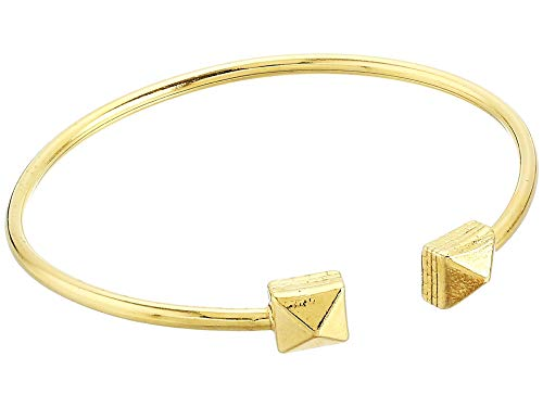 Alex and Ani Women's Pyramid Cuff Bracelet - Precious Metal 14kt Gold Plated One Size ()