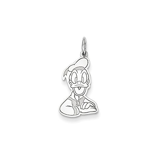 (Roy Rose Jewelry Sterling Silver Donald Duck Charm Necklace Complete with 18