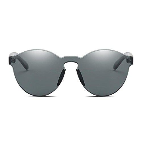 Gusspower Gafas de Sol Polarizadas Sin Marco Club Redondas Sin Montura Espejo Reflexivo Wayfarer (A): Amazon.es: Ropa y accesorios