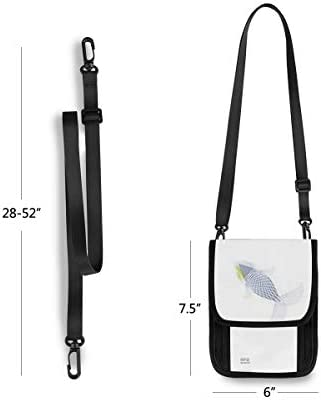 トラベルウォレット ミニ ネックポーチトラベルポーチ ポータブル 色の薄い魚 小さな財布 斜めのパッケージ 首ひも調節可能 ネックポーチ スキミング防止 男女兼用 トラベルポーチ カードケース