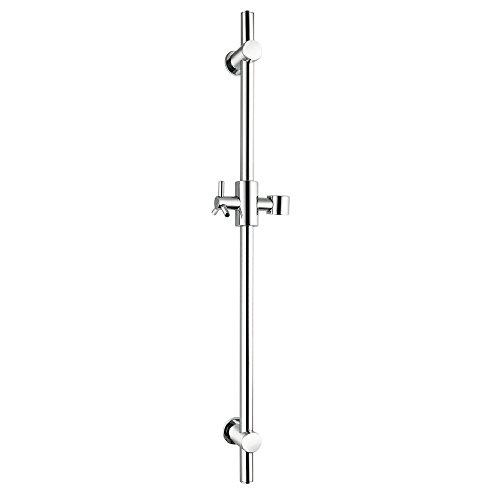 KES F203 Stainless Steel Slide Bars with All Brass Handheld Shower Bracket Height and Angle Adjustable, Polished Steel Brass Shower Slide Bar