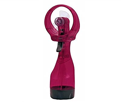 Deluxe Battery-operated Handheld Water-misting Fan (Hot Pink)