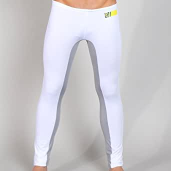 Timoteo Workout Leggings White (Small) at Amazon Menu2019s Clothing store Athletic Leggings