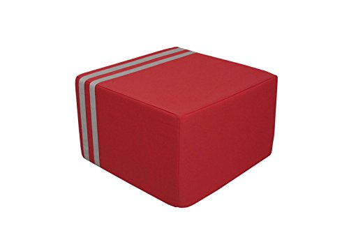 SOFTBLOCK Outdoor/Indoor Kids Ottoman, 16 x 16 x 10-Inch, Coral by SOFTBLOCK