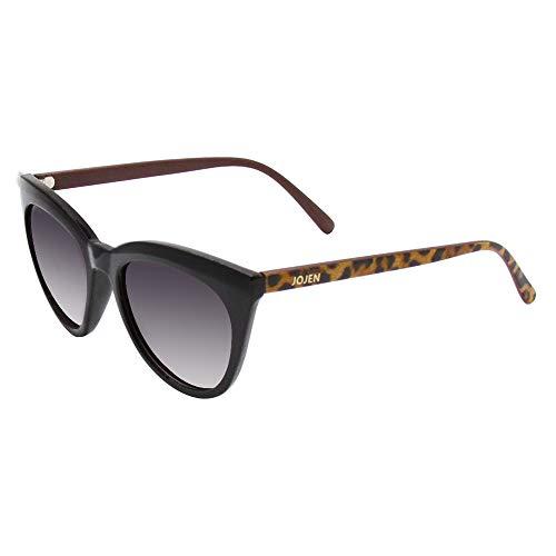 JOJEN Polarized Sunglasses for Women's Cat Eye Retro Ultra Light Lens TR90 Frame JE003 (Black&Tortoise Shell Frame Mercury Lens)
