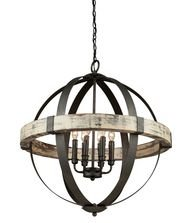 Artcraft Lighting Castello 6-Light Orb Chandelier, Black - Artcraft Lighting
