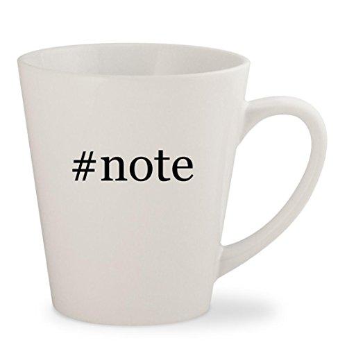 Price comparison product image #note - White Hashtag 12oz Ceramic Latte Mug Cup